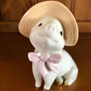 "Lenox Porcelain ""Sadies Sunday Best""  Pig Figurine"